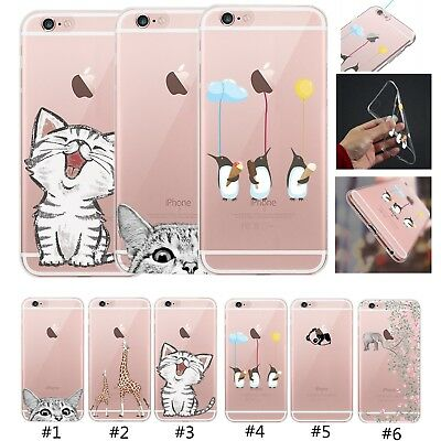 UK Clear Silicone Soft TPU Case Cover For Apple iPhone 6 7 8 Plus X XS XR XS Max