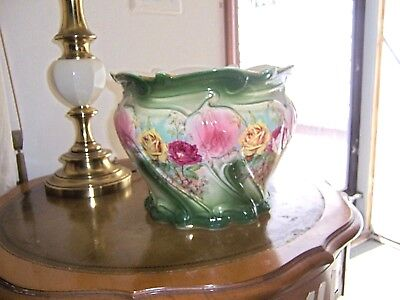 Antique French Hand Painted Porcelain Cache, Center Pc,pot Signed Rare Stunning!