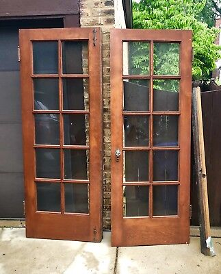 1928 Antique French Doors. Sold As Pairs
