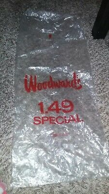 1940s Woodward's Vancouver Plastic Bag- Very Good Shape!