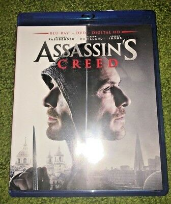Assassins Creed Blu-Ray + DVD + Digital HD (DVD Watched Once)