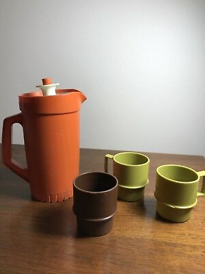 Vintage Tupperware Cups and Pitcher Mini-Serve-It