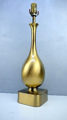 Westwood  VTG Mid Century MODERN Brass Table Lamp Tony Paul AS Found Restore