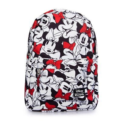 Loungefly Disney Minnie Mouse Face Print Backpack,shoulder Bag