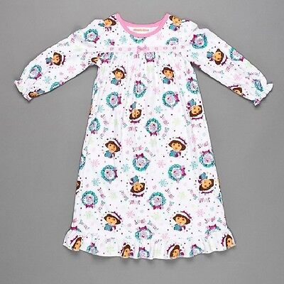 NWT NEW Dora the Explorer Christmas Jingle Boots Flannel Nightgown Pajamas 3T