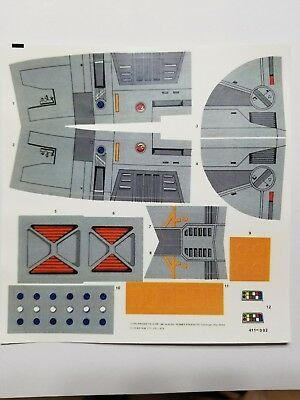 Vintage Star Wars Imperial Cruiser (Sears) Replacement Stickers - No Need To Cut
