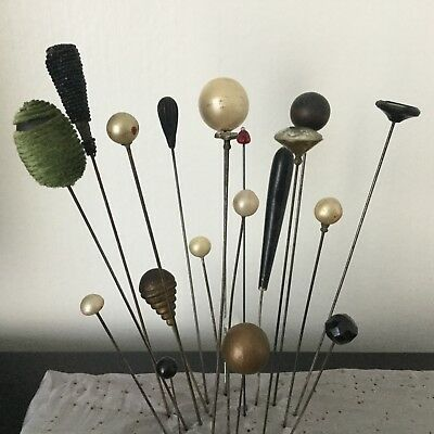 Lot 20 Epingles A Chapeau Anciennes - Antique Batch Hat Pins n°5