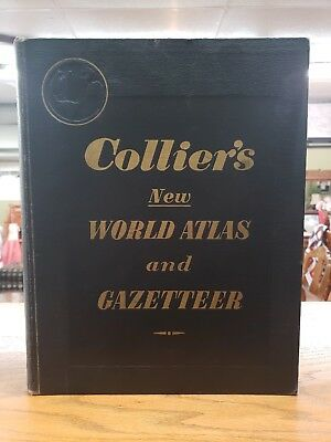 """Collier's New World Atlas & Gazeteer"" - P F Collier, 1953 PRICE REDUCED"
