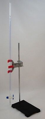 Titration Station Traditional Glass Burette w/Stand & Single Buret Clamp: 50ml