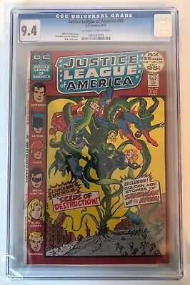 Justice League Of America #99 - Cgc 9.4 - Off White/ White Pages