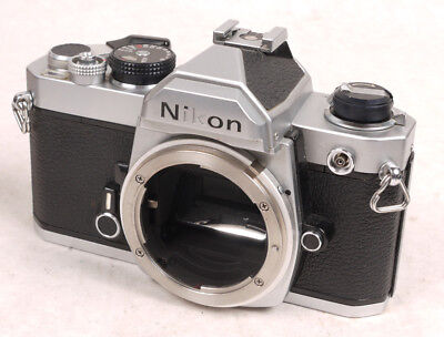Nikon FM Chrome Body - Clean and Works Well