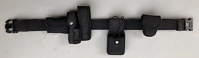 "Bianchi Black Nylon Duty Belt 2-1/4"" w/Triple Release Polymer Buckle w/Extras"
