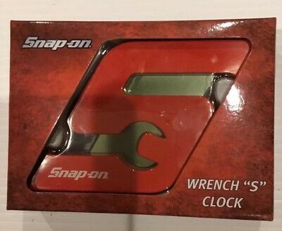 Snap On Wrench S Clock Desk  Die Cast Metal Led New Tool Box Attachable #G