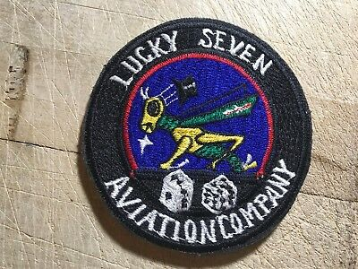 "Korea/Cold War? US ARMY PATCH-""Lucky Seven"" 7th Aviation Company-ORIGINAL BEAUTY"