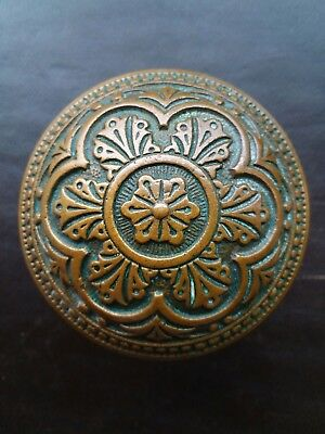 Beautiful Antique Corbin  Brass Bronze Door Knob - Victorian Eastlake Solid Rare