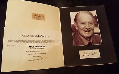 Art Linkletter Signed & Matted Picture THE SECRET WORLD OF KIDS Author COA AUTO