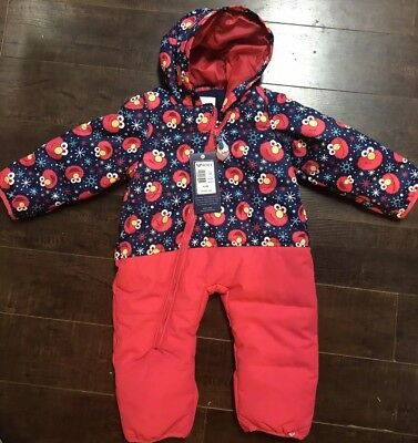 New Girls's Roxy Baby Ski Winter Snow suit Elmo Sesame Street Size 12 Months