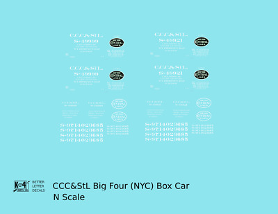 K4 G 1:24 Decals Elgin Joliet and Eastern EJ/&E 40 Ft Wood Boxcar White