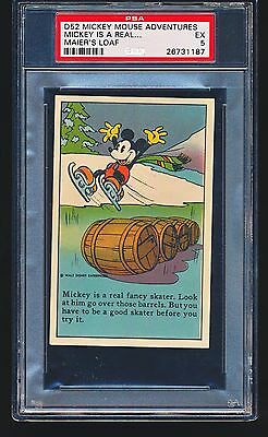 1937 D52 Mickey Mouse Adventures MICKEY IS A REAL FANCY SKATER PSA 5 - 1/2