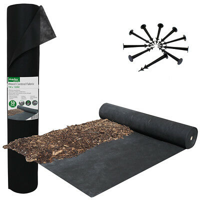Black Weed Control Fabric Securing Pegs Ground Cover Fixing Anchor Membrane ST