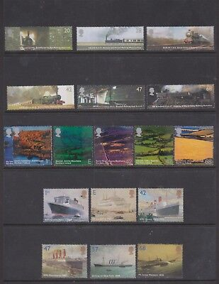 GB 2004 Complete Year Set Of commemorative Stamps- all in perfect MNH condition
