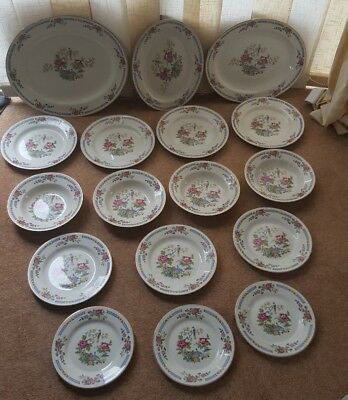 Vintage BCM Lord Nelson ware pre-1950s dinner set floral & phoenix pattern