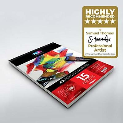 Acrylic & Oil Painting Pad - 260gsm, 15 Sheets - by PABLO® A3 or A4