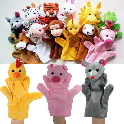 12 Styles Animal Wildlife Hand Glove Puppet Soft Plush Puppets Kid Childrens Toy