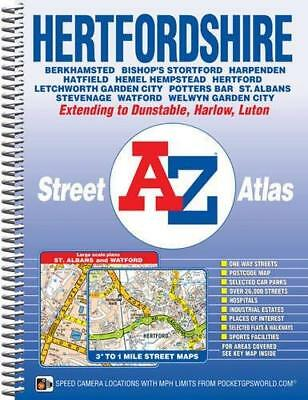 Hertfordshire Street Atlas by Geographers' A-Z Map Company New Spiral bound Book