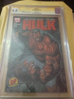 HULK #1 (2008) - RED HULK Dynamic Forces Dale Keown Variant Cgc 9.8 Ss