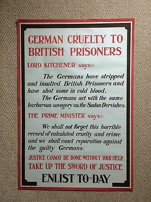 Ww1 Poster Original Poster British Recruitment Poster