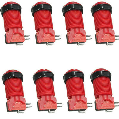 8 pcs/Lot Happ Style Arcade Push Button with Microswitch for MAME JAMMA 6 Colors