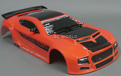 1 10 Rc Car Thunder Drift Body Shell Painted Finished Red Cat