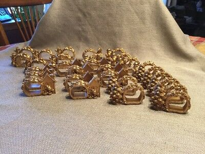 Vintage Resin Christmas Napkin Rings ~ Lot Of 29