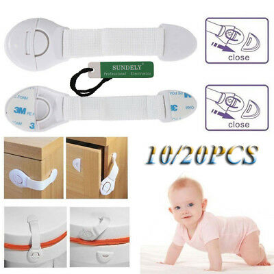 10/20pcs Baby Safety Lock Pet Child Kids Proofing Cabinet Drawer Fridge Cupboard