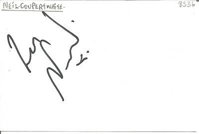 Neil Couperthwaite actor signed white card dedicated in person autograph Z3650