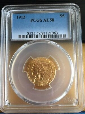 5 Dollar USA Goldmünze 1913 PCGS AU58