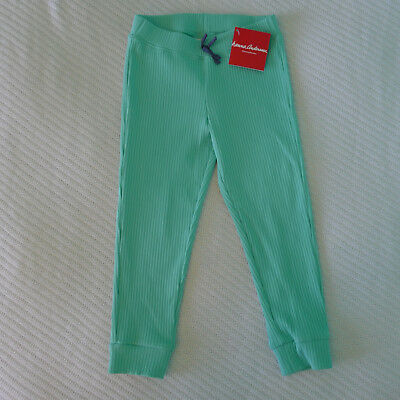 Hanna Andersson 120 NWT Green Glass Ribbed Cropped Pant New 7