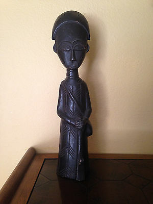 Vintage AFRICAN Wood Wooden Carving Figure  Statue