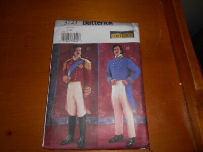 BUTTERICK # 3723- MENS HISTORICAL COSTUME 19th CENT - MILITARY -VICTORIAN-UNCUT