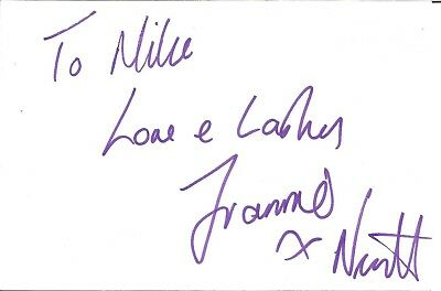 Francesca Nevitt actress signed white card dedicated in person autograph Z3692