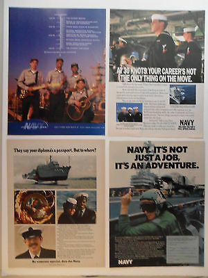 Nice Lot of 11 Different USN US NAVY Recruiting Magazine Print Ads