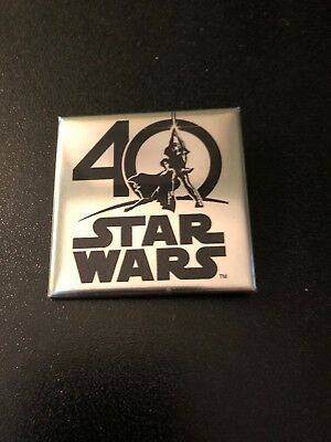 Star Wars Celebration 40th Anniversary Silver Pin 2017 Limited Edition Exclusive
