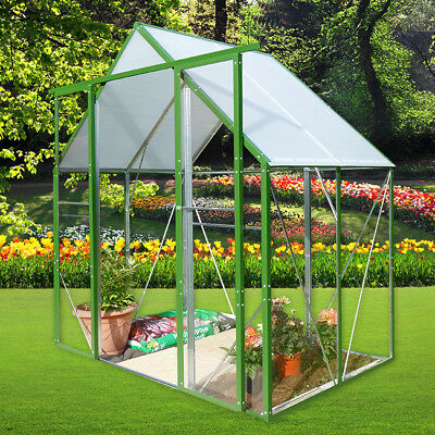 Solid Walk In Plastic Greenhouse with Steel Frame UK Outdoor Garden
