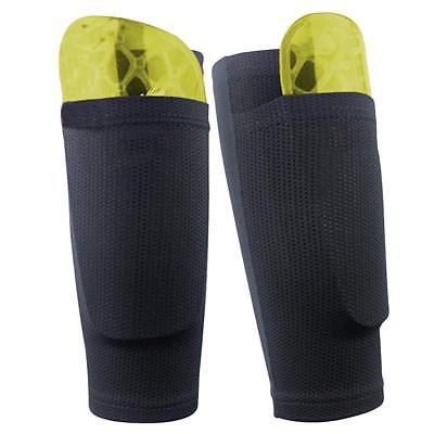 2x Calf Support Brace Football Shin Guard Socks Sleeves Double Layer Shin Pads