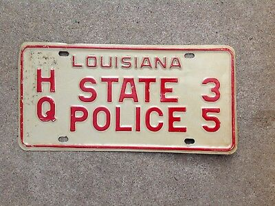 "Louisiana  - ""state Police"" - License Plate"