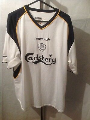 super popular a9733 f8860 LIVERPOOL FC AWAY Football Shirt Kit Jersey Rare Size L 2001-2003 Reebok  Pre Own