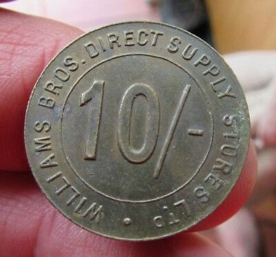 10 Shillings William Bros Direct Supply token