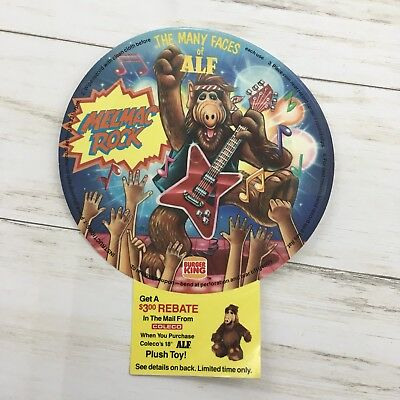 1988 Burger King The Many Faces of Alf Melmac Rock Flexi Record