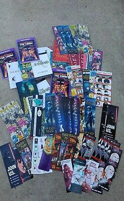 LOT OF 80+ SAN DIEGO COMIC CON SDCC 2018 LOOT: Swag Bookmarks, Sample Novels